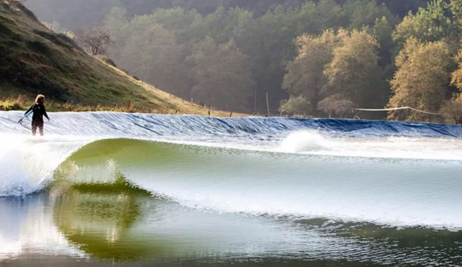 The Wavegarden prototype in Spain. Photo: Wavegarden