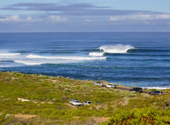 Overlooking Main Break at the beautiful Margaret River. Photo: WSL / Kirstin Scholtz