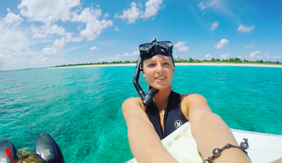 """Lakey keeping things about as positive as possible """"My version of the WSL at the moment. World Snorkeling League. Haha but in all honesty working on my ankle and hoping to be back soon! Enjoying some time in the sun and the sea to keep me sane until I get back on the board."""""""