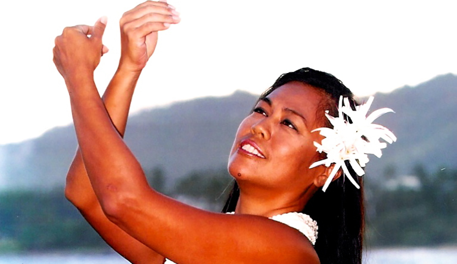 Preserving Polynesian culture is important to Madeline Guyett, pictured dancing Hula in Kauai.
