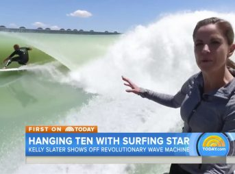 """As you can see, Kelly Slater is getting barreled directly behind me...Shacked, brah!"""