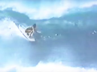 It features some of history's greatest surfers, like David Nuuhiwa, Jock Sutherland, and Greg Noll at Pipeline.