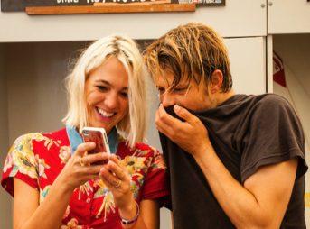 Dane and girlfriend Courtney Jaedtke. Photo: Peter 'Joli' Wilson Photo