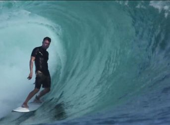 The clip above is a good look at a world class wave with a few everyday surfers