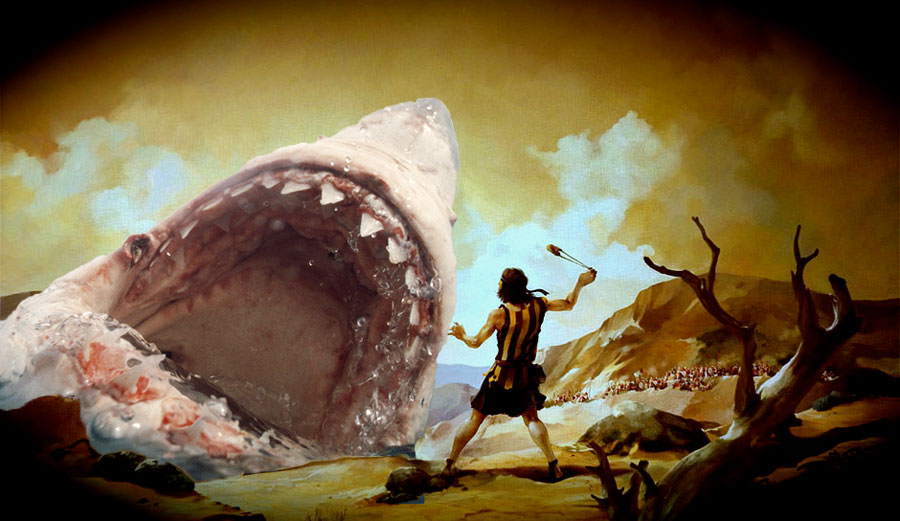 Ok, so the sharks are probably actually David, but you get the idea.