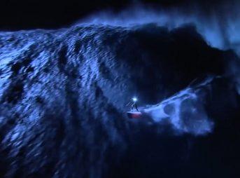 Mark Visser Surfs Jaws at Night