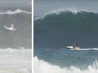 Newport Lifeguards had to rescue a couple who found themselves in a bad situation at the Wedge.