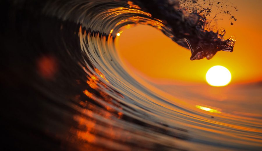 Graham Hunt Empty Wave Sunset