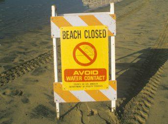 A huge sewage spill near downtown L.A. could contaminate Seal Beach, Huntington Beach, Sunset Beach and Palos Verdes.