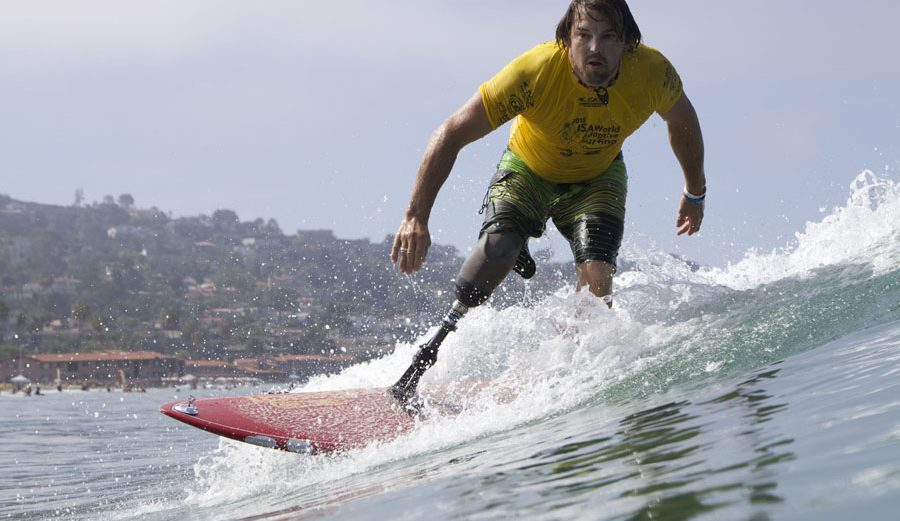 Norway's Ismael Guilliorit at last year's World Adaptive Surfing Championship in La Jolla, California. Photo: ISA