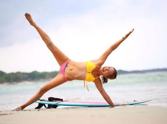 Core strength refers to the muscles of your abs and back, and their ability to support your spine to keep your body stable and balanced. Since surfing involves a lot of twisting and rotating, core strength plays a critical part in balancing you on your board.