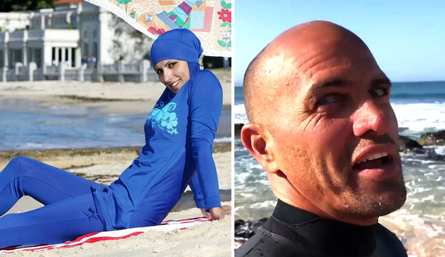 """""""There could be a cross dresser next to this person and not be bothered so why bother her?"""" – Kelly Slater"""