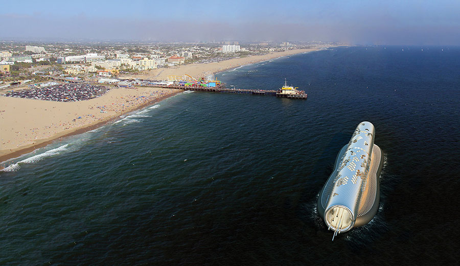 The Pipe would be visible from the Santa Monica Pier.