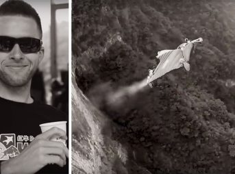 Uli Emanuele died tragically on Wednesday after a wing suit stunt went wrong.