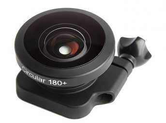 The Circular 180+ sits over the existing GoPro waterproof housing.