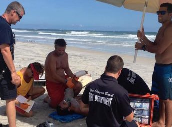 Chucky Luciano was one of three people attacked by sharks in New Smyrna Beach on Sunday. He suffered lacerations to both hands, but his injuries were not life threatening. Photo: Facebook/Chucky Luciano