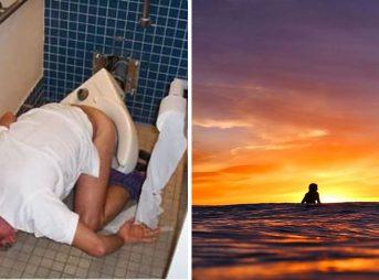 Don't wake up like toilet guy. Wake up like sunrise girl!