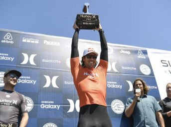 Jordy is your 2016 Hurley Pro champion. But did his win help the WSL escape dealing with fans' calls of poor judging? Photo: WSL/Kirstin Scholtz