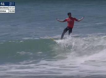 Gabriel Medina is pissed. After his loss to Tanner Gudauskas in the third heat of round three, he stormed off the beach, emptied his locker, and left.