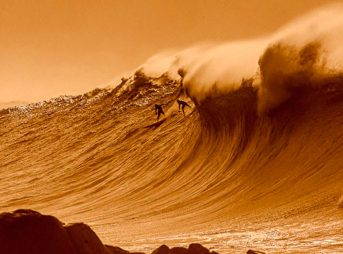 Sunset on the Eddie... at least where Quiksilver is involved. Photo: Brad Masters
