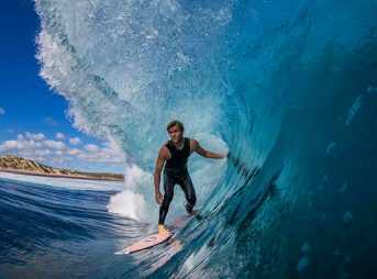 His surfing is perfectly suited for WA's rough-and-tumble waves, and the video above is proof.
