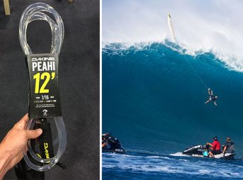 In the realm of big wave surfing, leashes can literally be a lifeline. Dakine has quietly been handing out leashes on the cliffs at Peah'i for those crazy enough to charge the place.