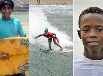 Three of the scholarship winners. Photos: ISA