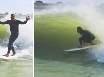 When Tom Curren had a chance to surf Kelly Slater's wave... well, it was a thing to behold.