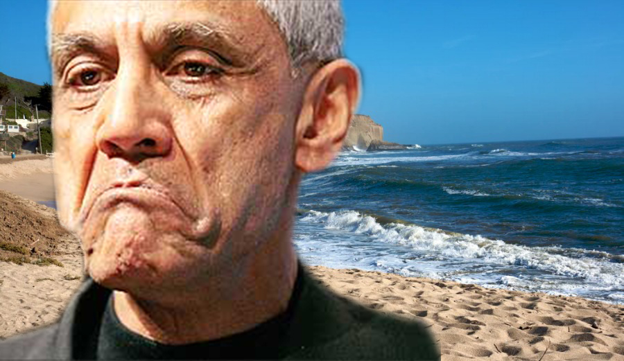 Vinod Khosla is suing two California agencies claiming he's been harassed since restricting access to Martins Beach. Photo: The Guardian/Energy Trends Insider