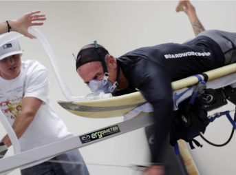 Surf science in progress at Cal State San Marcos. Photo: Cal State University San Marcos