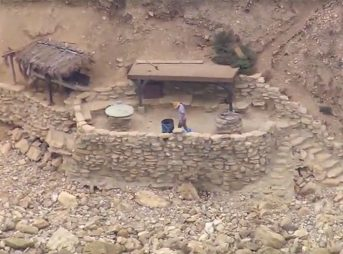 City officials helicoptered in jackhammers and compressors down the steep cliff face at the north end of Lunada to begin tearing down the fort. This week, they'll demolish the entire thing.