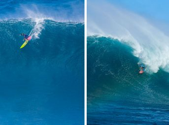 Yesterday, Billy Kemper won the Pe'ahi Challenge, and Paige Alms made history by becoming winning the first-ever Women's Big Wave Tour event.