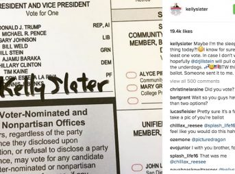 Kelly posted this photo on election Tuesday. It wasn't his ballot, apparently. He supports Jill Stein. But, uh, isn't voting. Photo: Instagram