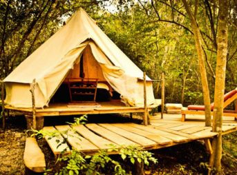 How's that for glamping?