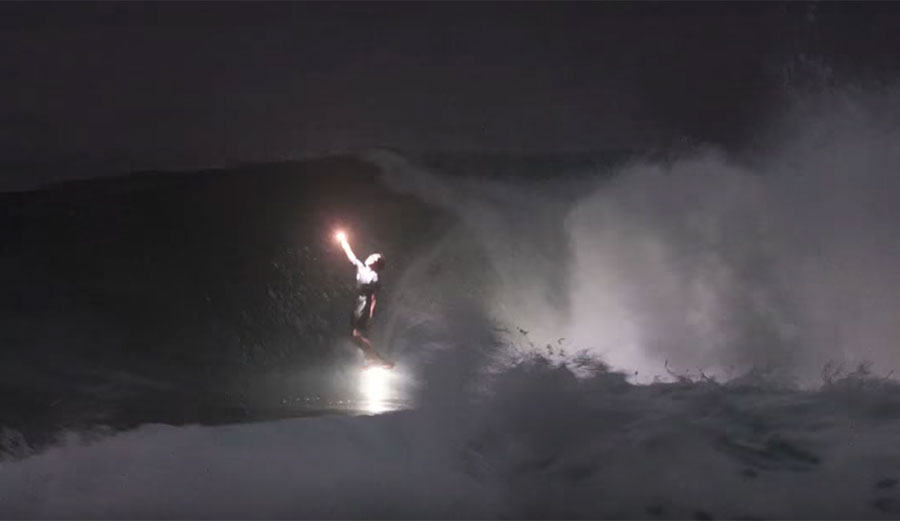 Night surfing is a novelty. An incredible looking novelty, but a novelty no less.