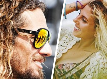 Rob Machado and Sage Erickson Hair