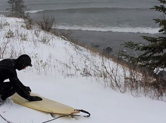 """""""Most epic sessions for me end with breaking the icicles off my hood and rushing home to a hot shower,"""" says Scott Laderman. Duluth looking nice and toasty in December 2008. Photo: T.C. Worley"""