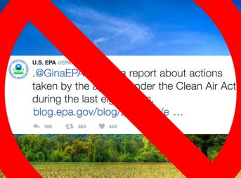 This is the most recent tweet from the EPA, dated January 19, 2017. Images: EPA