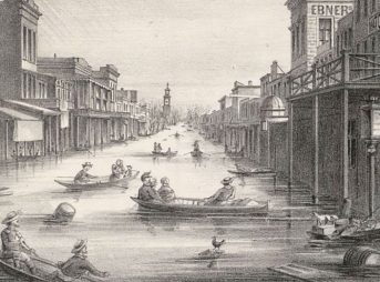 K Street, Sacramento, 1862. By Unknown (published by A. Rosenfield (San Francisco)) - http://content.cdlib.org/ark:/13030/tf2b69p086/?layout=metadata, Public Domain, https://commons.wikimedia.org/w/index.php?curid=24511196