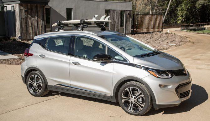 The Chevrolet Bolt EV. You might never visit a gas pump again. (Photo: Martin Klimek/Chevrolet)