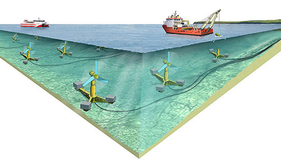 Scotland's Tidal Array is expected to be finished in the early 2020s.
