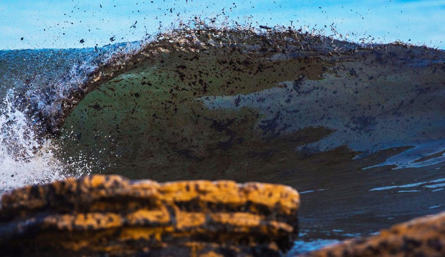 I was especially excited to surf at Refugio during the oil spill. That was awesome. Photo: Joshua Shelly
