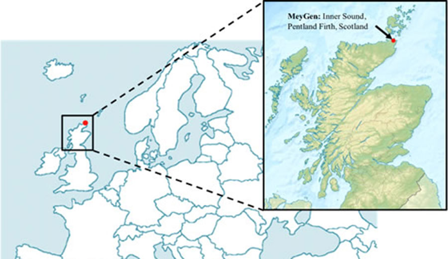 Pentland Firth, Scotland, the location of the project.