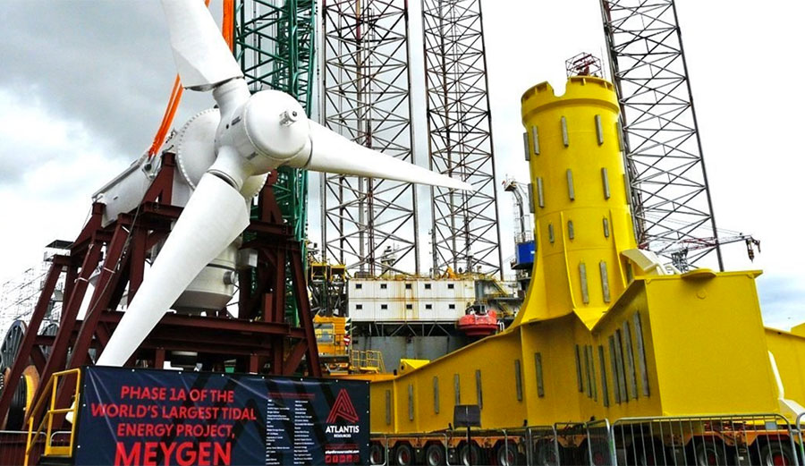 The massive tidal turbine will be one of more than 200 on the seabed.