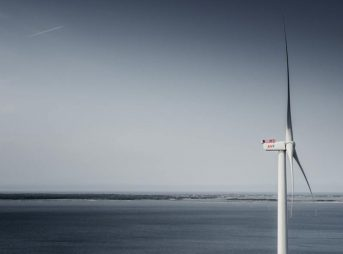 Østerild broke the energy generation record for a commercially available offshore wind turbine on Thursday 1st December, producing 216,000 kWh (actual figures 215,999.1 kWh) over a 24 hour period. Image: MHI Vestas Offshore Wind