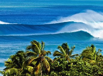 Rincon, Puerto Rico. Many people think this shot is Tres Palmas when they see it the first time but it's actually Sandy Beach. Much bigger than it looks. Photo: Evan Conway