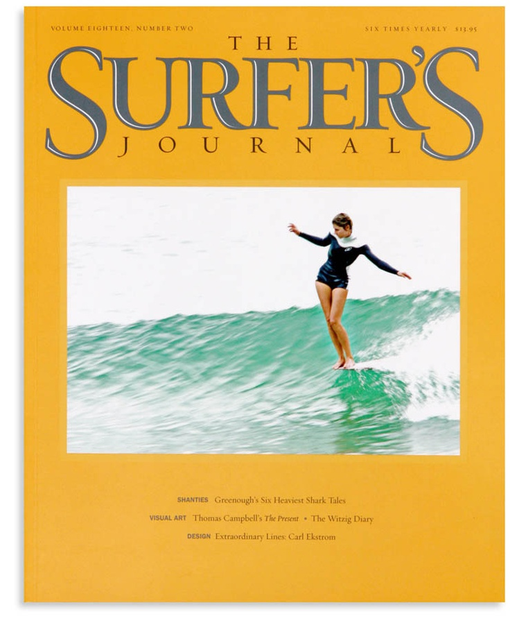Belinda Baggs' graceful cover of The Surfer's Journal. Photo by Dane Peterson.