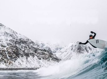 Surfers do funny things for waves.