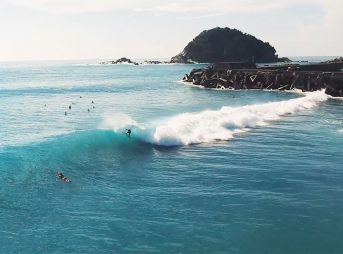 Japan is hosting the 2020 Olympics, and surfing is included.