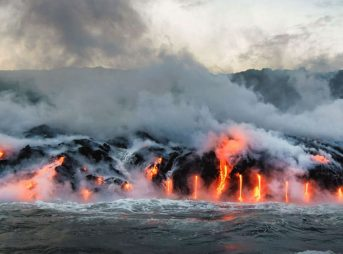 The newfound methane cache is nearly 5,000 miles long and stretches from Hawaii to Guatemala . Photo: Shutterstock